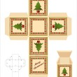 Christmas tree gift box — Stock Vector