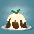 Stock Vector: Christmas Pudding