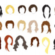 Stock Vector: Hairstyles
