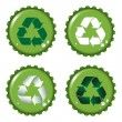 Bottle tops recycle — Stock Vector