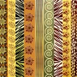 African fabric - Stock Vector