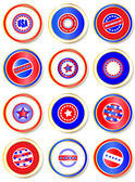 Stars & Stripes stickers — Stock Vector
