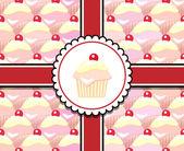 Cupcake-geschenk — Stockvektor