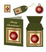 Christmas bauble stationery — Wektor stockowy