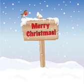 Merry Christmas sign — Stock Vector