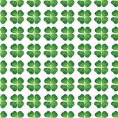 Four leaf clover seamless — Stock Vector