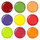 Bottle tops — Stock Vector