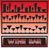 Wine bar — Stock Vector