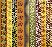 African fabric — Stock Vector