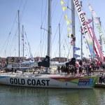 Round the World Yacht Race — Stock Photo