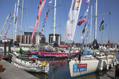 Round the World Yacht Race — Stock Photo