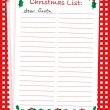 Christmas list — Stock Vector