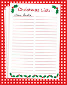 Christmas list — Stock Vector