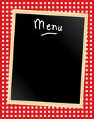 Tableau de menu sur vichy — Vecteur