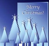 Рождественская елка выреза — Cтоковый вектор