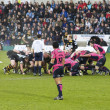 Rugby scrum — Stock Photo