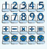 Sayıları mavi — Stok Vektör