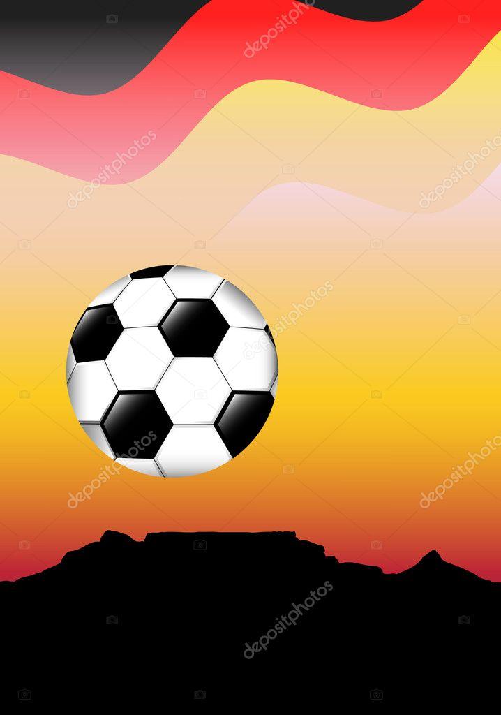 德国国旗结束南非足球概念表山