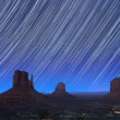 Monument Valley Star Trails 1 — Stock Photo