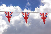 Bunting and sky — Stock Photo