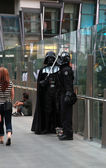Darth Vader and storm trooper — Stock Photo