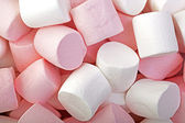 Pink and White marshmallows — Stock Photo
