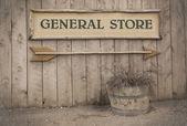 Vintage işareti, genel mağaza — Stok fotoğraf