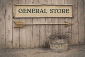 Vintage sign, General Store — Stock Photo