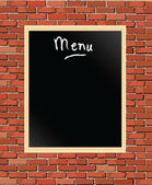 Menu chalkboard — Stock Vector