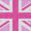 Stock Vector: Union Jack pink