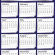 Silver sticker calendar 2013 — Vector de stock