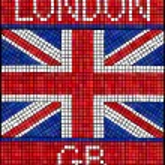 London 2012 mosaic — Stock Vector