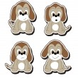 Royalty-Free Stock Vector Image: Cartoon pup stickers