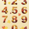 Autumn numbers — Stock Vector