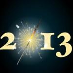 2013 sparkler — Stock Vector #11955655