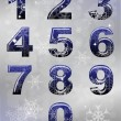 Winter numbers — Stock Vector