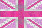 Union Jack pink — Stock Vector