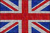 Union Jack mosaic — Stock Vector