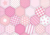 Patchwork quilt pink — Stock Vector