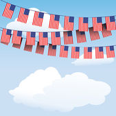 Stars and Stripes bunting flags — Stock Vector