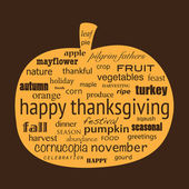 Happy Thanksgiving — Vettoriale Stock