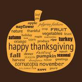 Happy Thanksgiving — Stock Vector