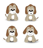 Cartoon pups — Stock Vector