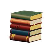 Staré knihy, samostatný — Stock vektor