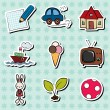Childish stickers — Stock Vector
