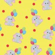 Seamless baby animal background - 