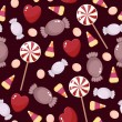 Seamless candies wallpaper — Imagen vectorial