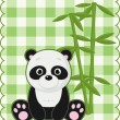 Panda card - Stock Vector