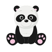 Panda, isolated on white — Stock Vector