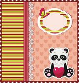 Panda kaart — Stockvector